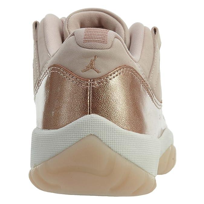5128ab6b58b Amazon.com   AIR Jordan 11 Retro 'Rose Gold' Womens -AH7860-105   Shoes