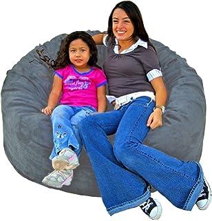 Cozy Sack 4 Feet Bean Bag Chair Large Grey