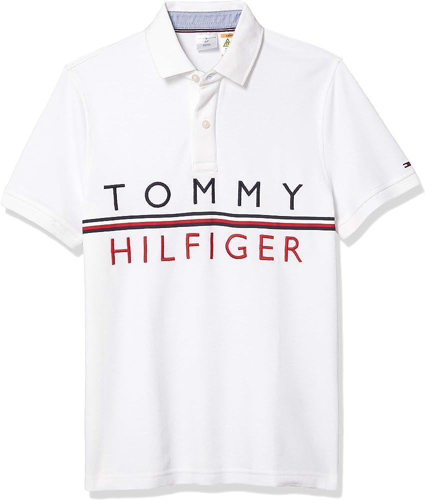 Tommy Hilfiger - Polo adaptativo para hombre con botones ...