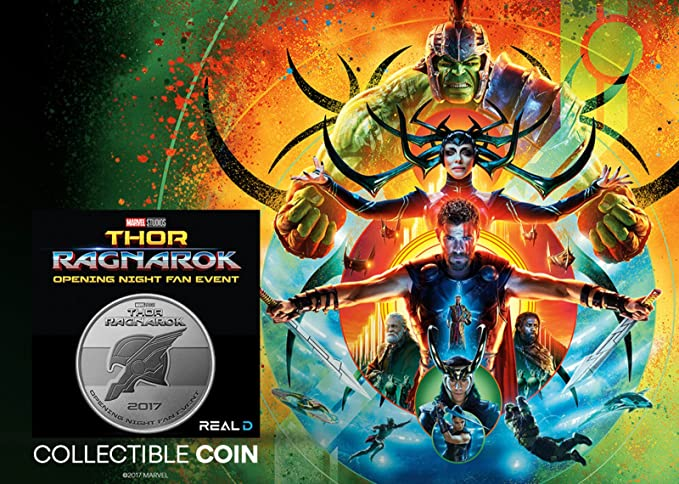 Thor Ragnarok Opening Night Fan Event Collectable Marvel Coin