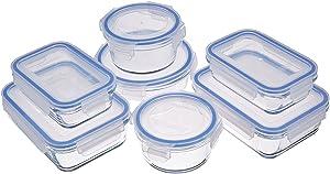 AmazonBasics Glass Locking Food Storage Containers - 14-Piece Set