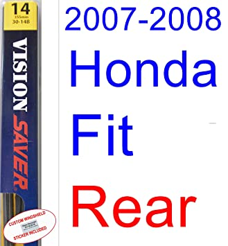 2007-2008 Honda Fit Wiper Blade (Rear) (Saver Automotive Products-Vision