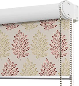 LANTIME Blackout Window Roller Shades, Patterned Thermal Insulated and UV Protection Window Roller Blinds, Easy Installation for Home and Office, Pattern 4