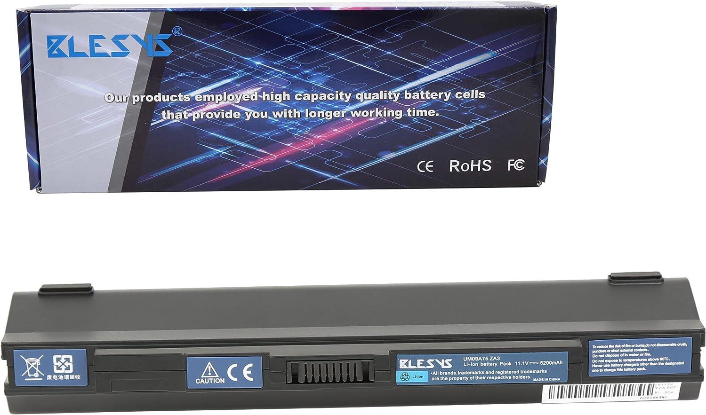 BLESYS - 11.1V 4400mAh UM09B31 UM09A71 UM09B73 Batería Compatible con Acer Aspire One ZA3 ZG8 Serie Batería de computadora portátil