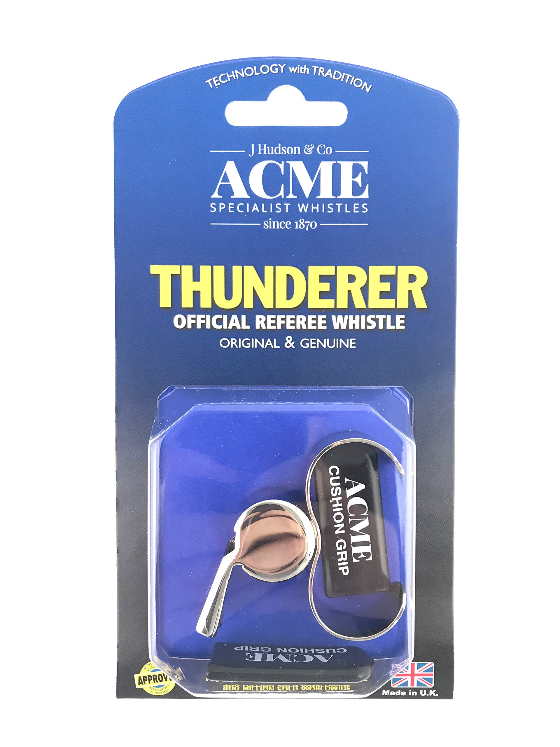 Acme Thunderer 60.5 Finger Grip Whistle Nickel Plated 477/60.5 by Acme Whistle