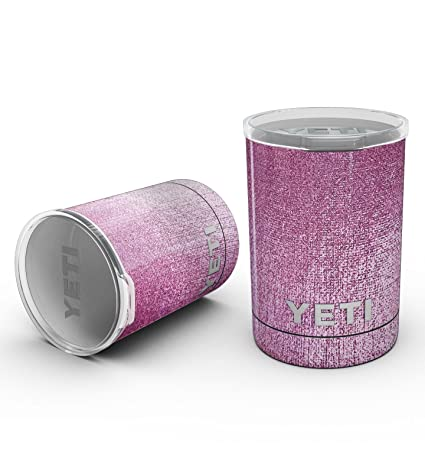 4cd9435d722 Design Skinz Decal Skin-Kit Wrap for Yeti Drinkware - Shiny Pink Fabric  Texture -