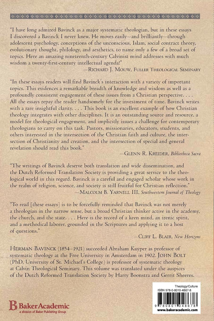 Essays On Religion Science And Society Herman Bavinck John Bolt  Essays On Religion Science And Society Herman Bavinck John Bolt Harry  Boonstra Gerrit Sheeres  Amazoncom Books