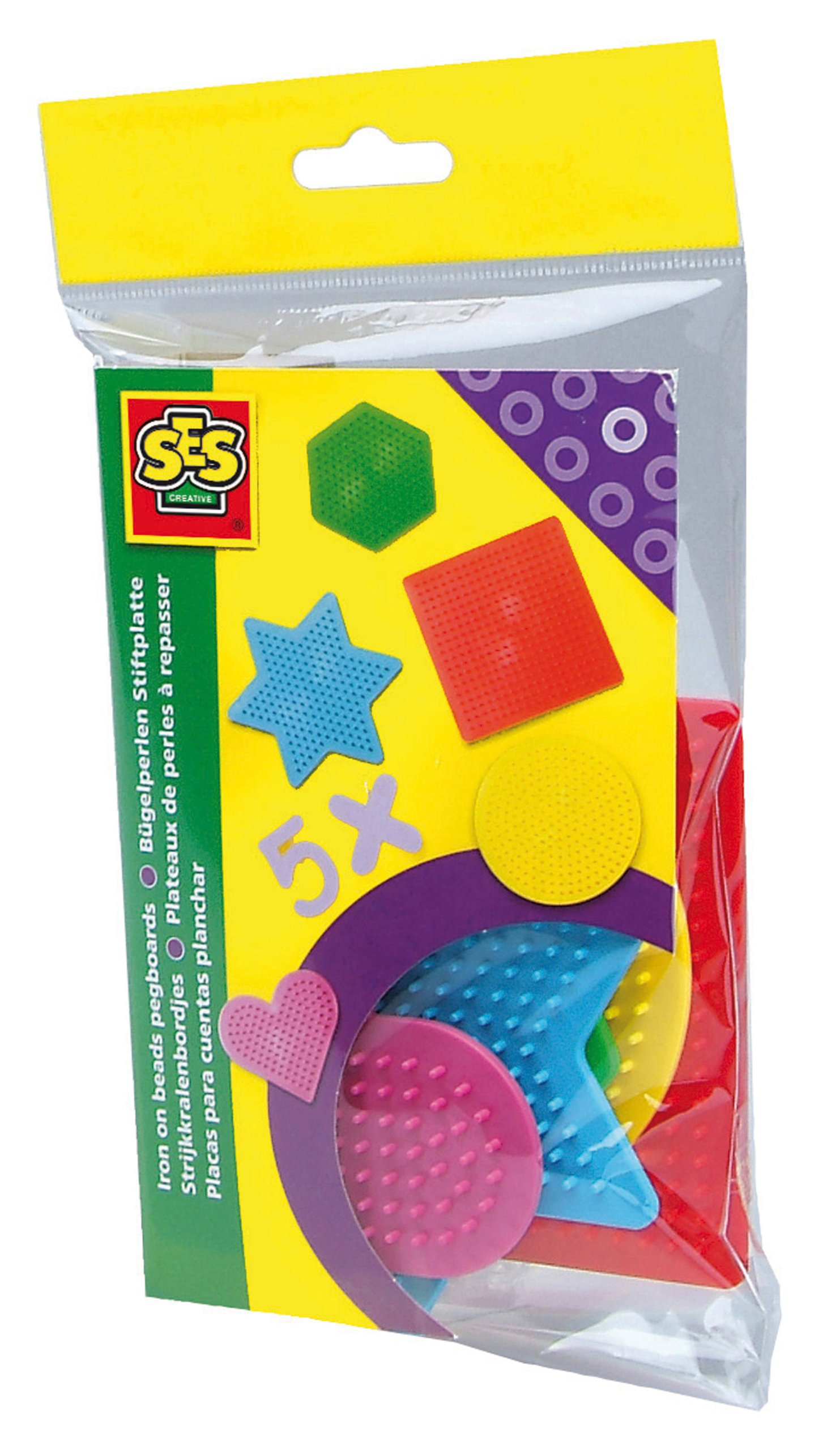 SES Creative Iron On Beads Pegboard - 5 Small Pcs. Arts & Crafts by SES Creative (Image #2)