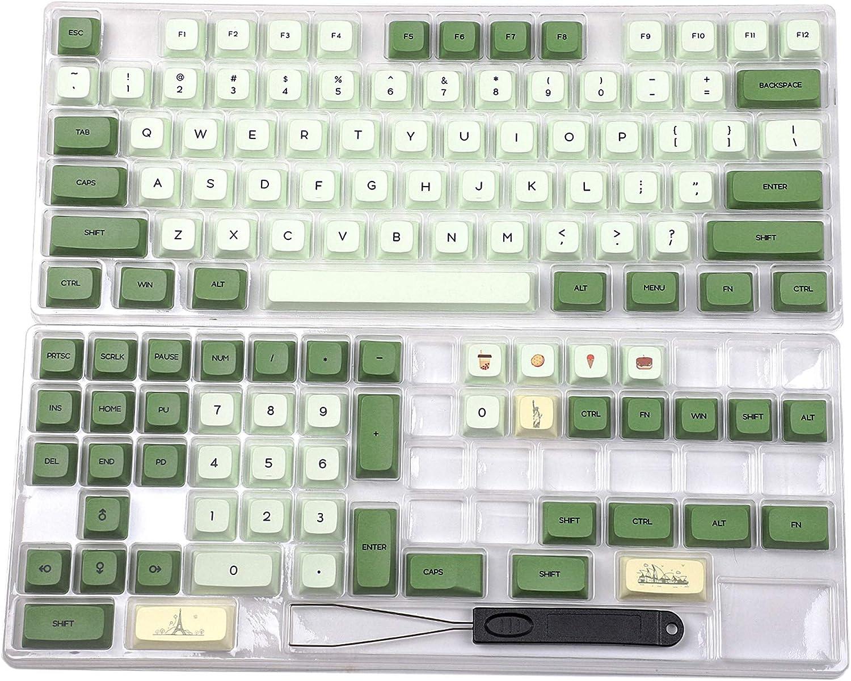 YMDK Matcha Dye Sub ZDA Profile PBT Keycaps
