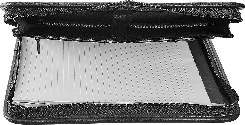 Basics Zippered Padfolio Binder with Document Organizer
