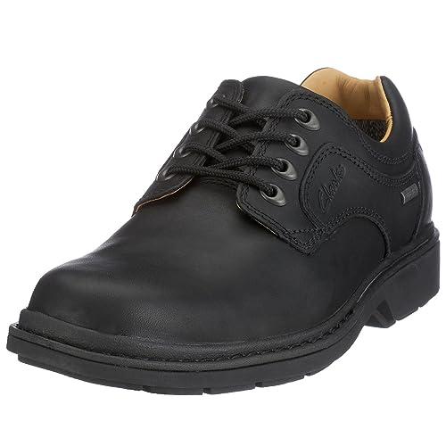Dek's - Zapatos de cordones para hombre, color negro, talla 12