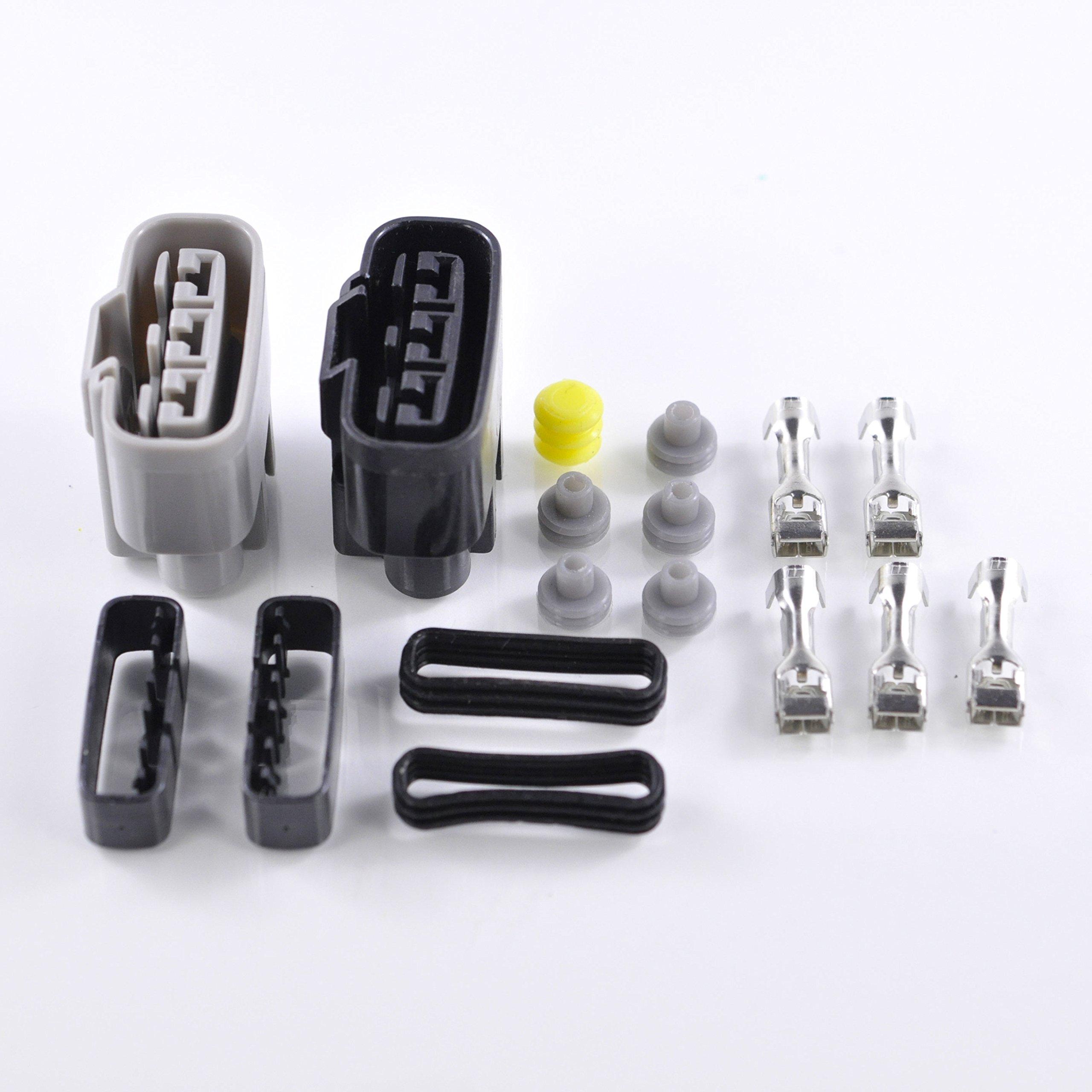 Universal Regulator Rectifier Connectors Kit For Sea-Doo Can-Am Ducati Yamaha BMW Ski-Doo Kawasaki Polaris Triumph OEM Repl. # 710000261 4012941 31600-HP0-A01 21066-0022 21066-0008 1D7-81960-00-00