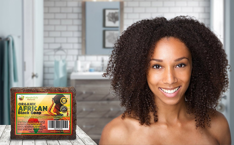 Wonderfully Natural African Black Soap Bar   100% Organic 1lb   Black soap Acne Treatment   Eczema Natural Soap   60 day Satisfaction Guarantee by Wonderfully Natural (Image #3)