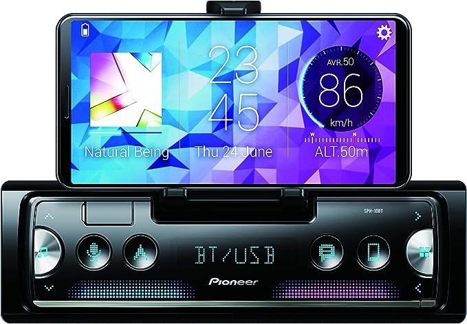 Pioneer SPH-10BT Récepteur multimédia de Voiture Noir, Argent 200 W Bluetooth