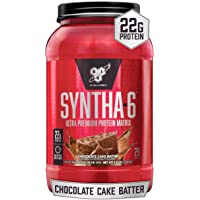 BSN SYNTHA-6 Whey Protein Powder, Micellar Casein, Milk Protein Isolate, Chocolate Cake Batter, 28 Servings (Packaging…
