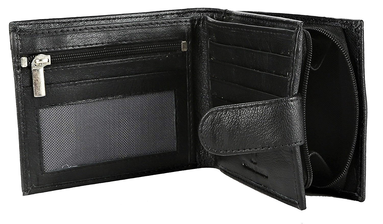 RFID Blocking Mens Designer BUONO PELLE Genuine Real Soft Leather Wallet