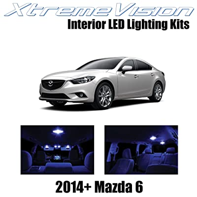 XtremeVision Interior LED for Mazda 6 2014+ (12 Pieces) Blue Interior LED Kit + Installation Tool: Automotive
