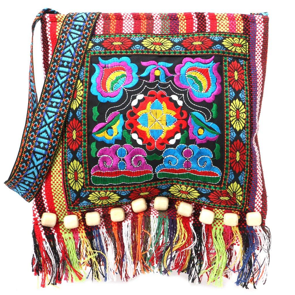 Wifun New Vintage Stickerei tasche Boho Hobo Hmong Ethnische Shopper Tasche frauen schulter umhängetasche Bestickte handtasche
