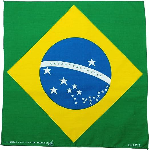 Toalla Brasil Bandera Brazil Pañuelo Bandana Pañuelo Toalla de Nicki Aprox. 51 x 51 cm Impresa por una Cara.: Amazon.es: Deportes y aire libre
