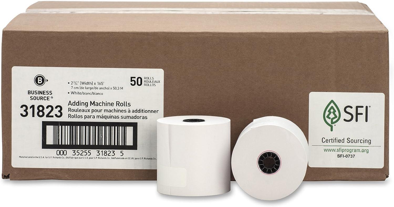 """3/""""x150/' Bond Paper Cash Register Machine Receipt Rolls Alliance 50 Rolls"""