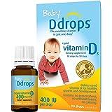 Ddrops Baby 400 IU, Vitamin D3, 90 Drops (Pack of 2)