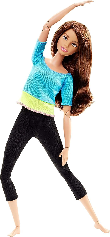 Barbie Fashionista Made to Move, Muñeca articulada top color azul, juguete +3 años (Mattel DJY08)
