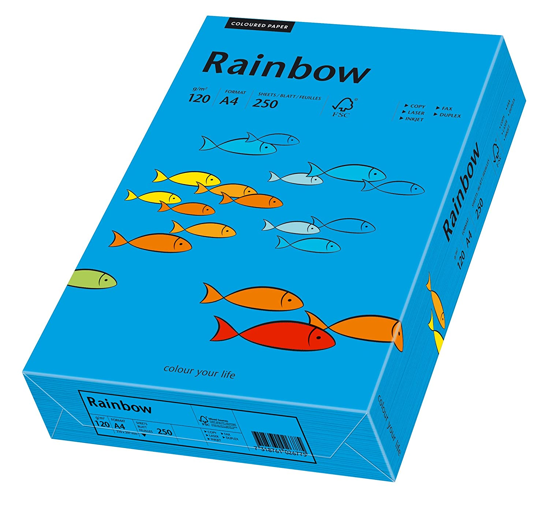 500 Blatt Kopierpapier Rainbow A4 80g intensivblau intensiv farbiges Papier BLAU