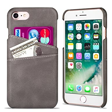 quality design bee6b 2c9c1 QLTYPRI iPhone 6 6S Case, Premium PU Leather Wallet Case with Card Holder  [Support Wireless Charging] Ultra Slim Hard Shell Shockproof Anti Scratch  ...