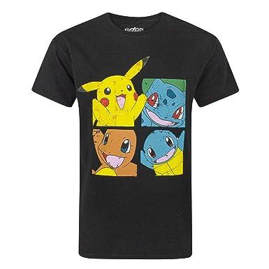 634adc6f Pokemon Starters Distressed Men's T-Shirt (L): Amazon.co.uk: Clothing