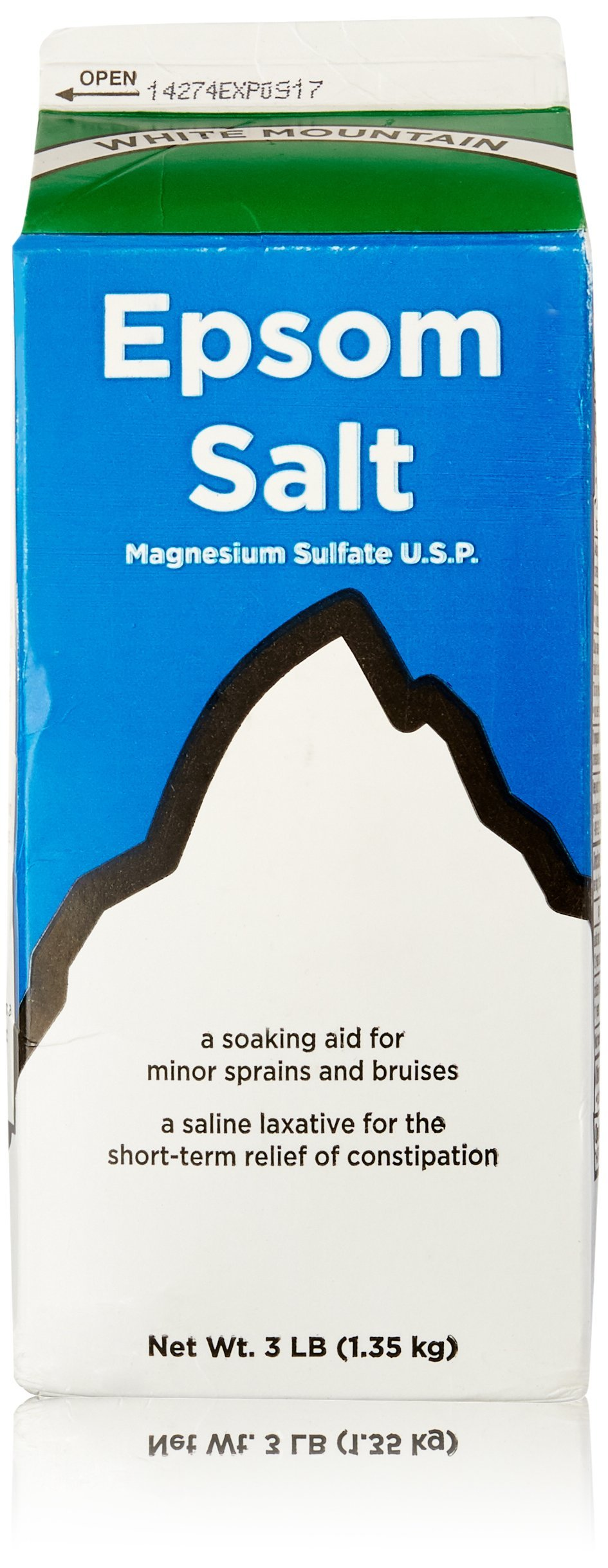 White Mountain Epsom Salt Magnesium Sulfate Soaking Solution, 3 lb