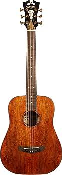 D'Angelico Premier Utica Koa Mini Acoustic Guitar Natural