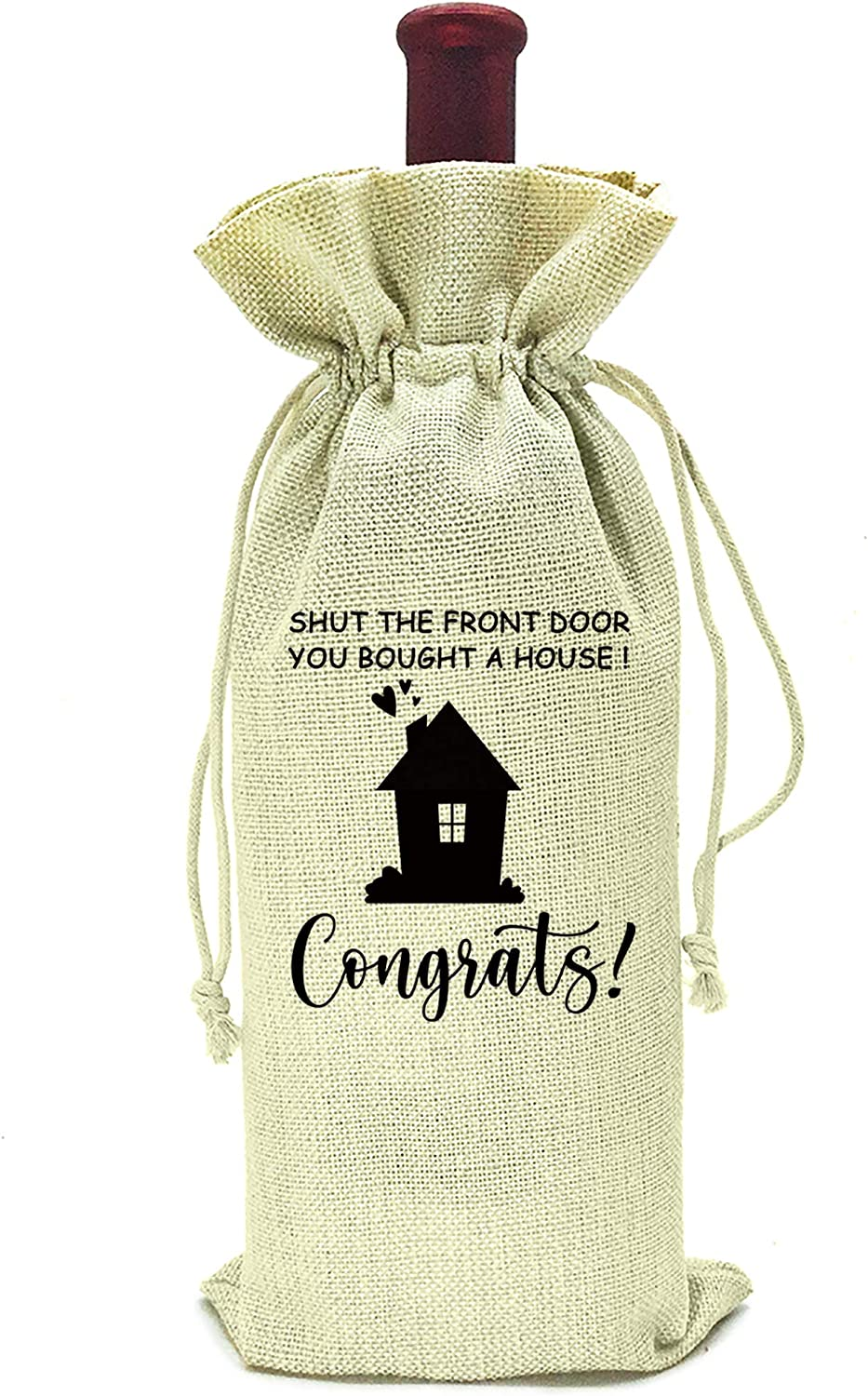 Housewarming Gifts,First New Home House Homeowner Gifts for Men, Women, mom,dad,daughter,son, Friends, Coworkers,Sweet home, you bought a house congrats,wine bag gift