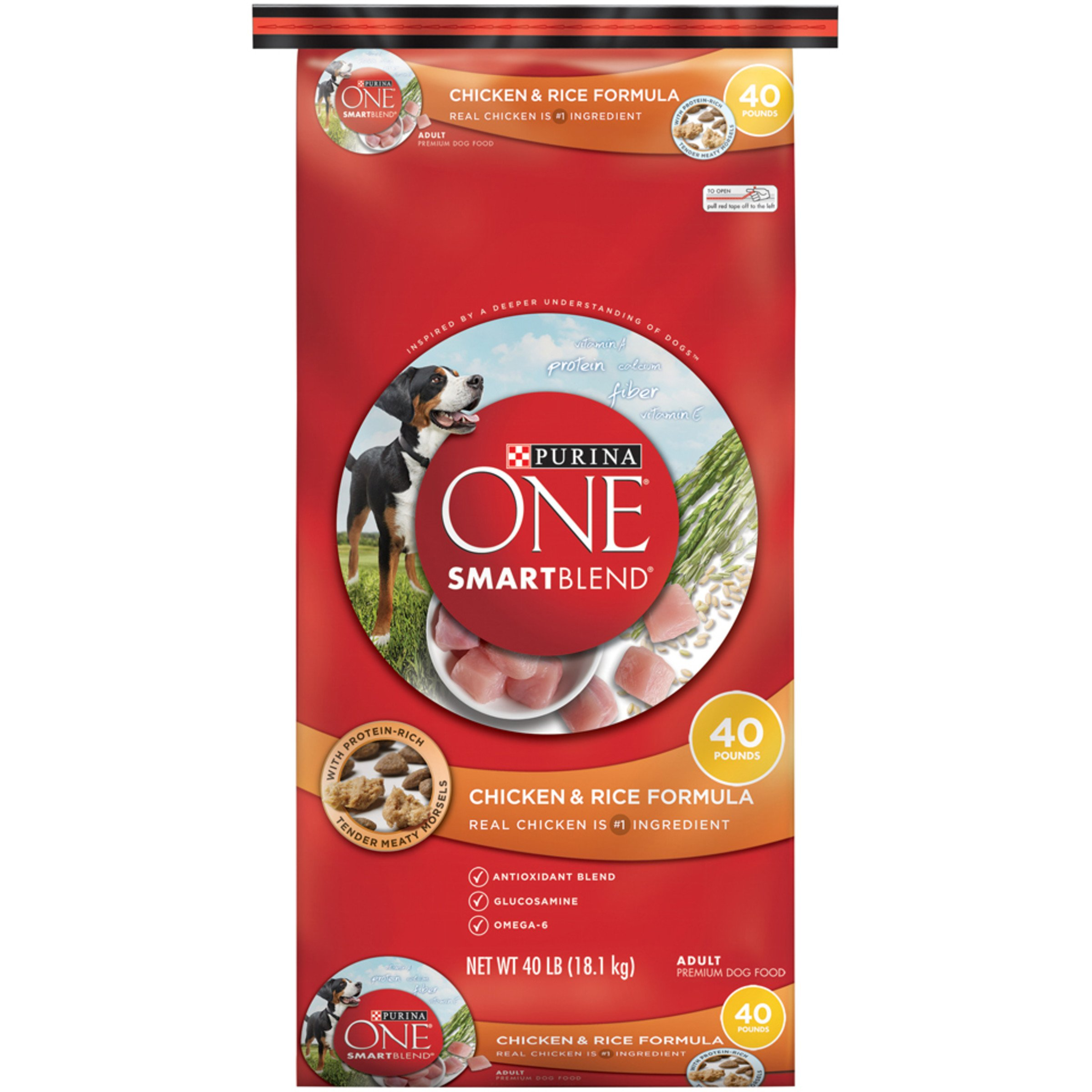 Purina ONE SmartBlend Chicken & Rice Formula Dry Dog Food 40 lb