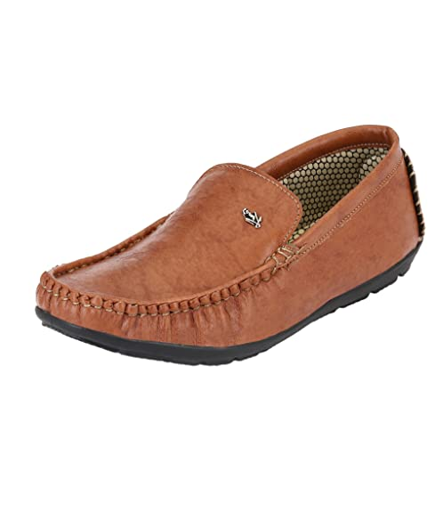 4a6a4858dc0 Knoos Men Synthetic Leather Loafers  Buy Online at Low Prices in ...