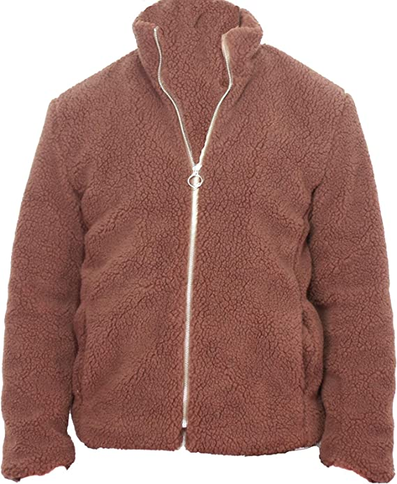 The Badass Company Teddy Zip up Jacket (Brown) at Amazon