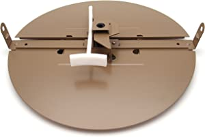 "8"" Butterfly Damper - Control Your Airflow on Drop Ceiling grilles of 24x24 (8"" Round Duct Opening)"