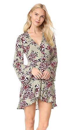 MINKPINK Women's Femme Flora Wrap Dress, Multi, X-Small