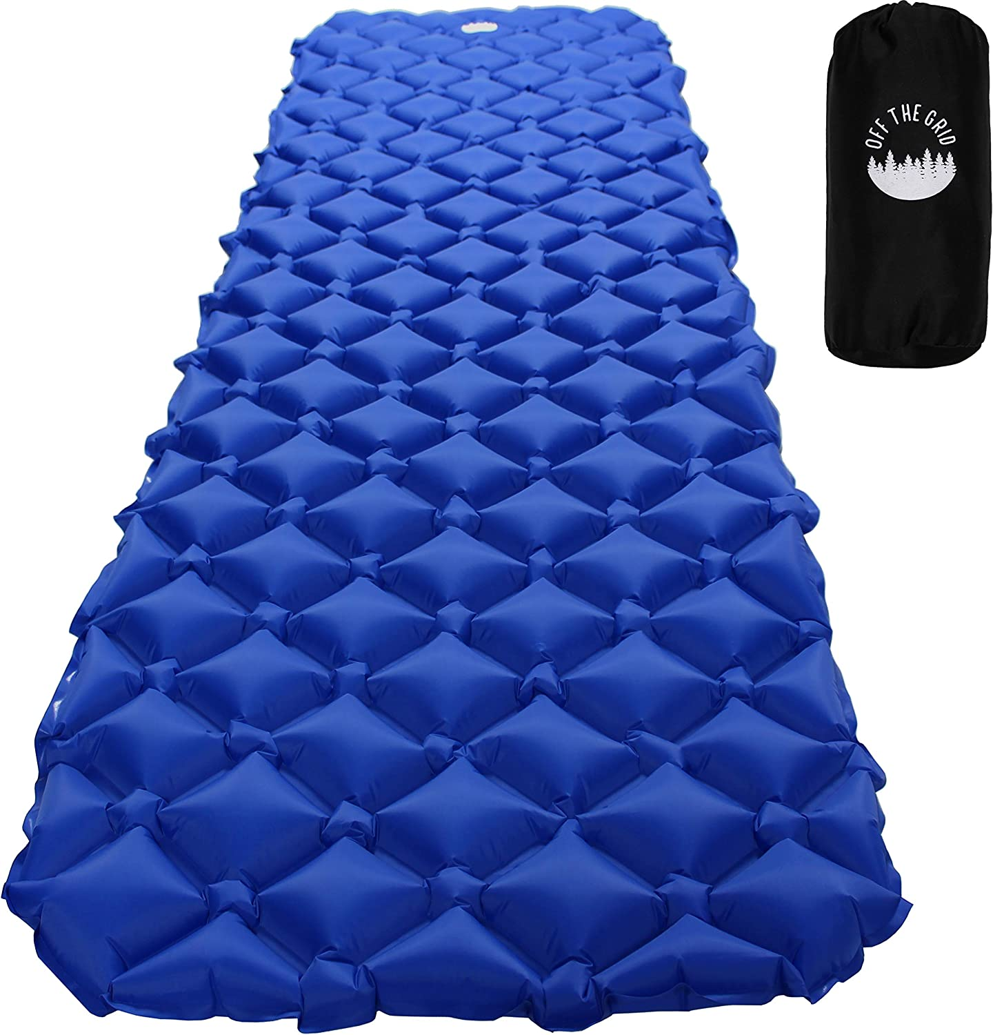 Relefree Camping Mat Sleeping Mat with Pillow Ultralight Folding Camping Air Mattress For Outdoor Tent Sleeping Bag and Backpacking Hiking Camping Sleeping