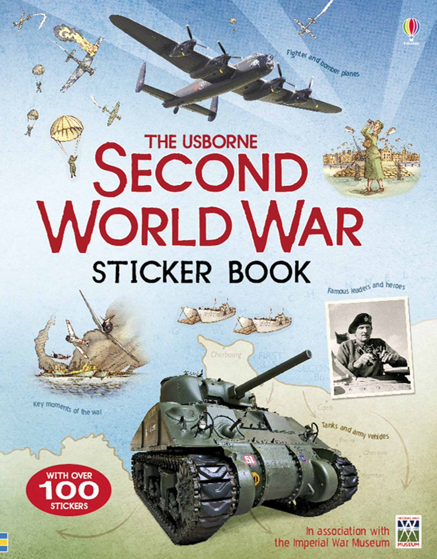 Second World War sticker book (Anglais) Broché – 30 avril 2015 Henry Brook Adam Larkum Usborne catalogue anglais 1409583082