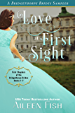 Love at First Sight: A Bridgethorpe Brides Sampler (English Edition)