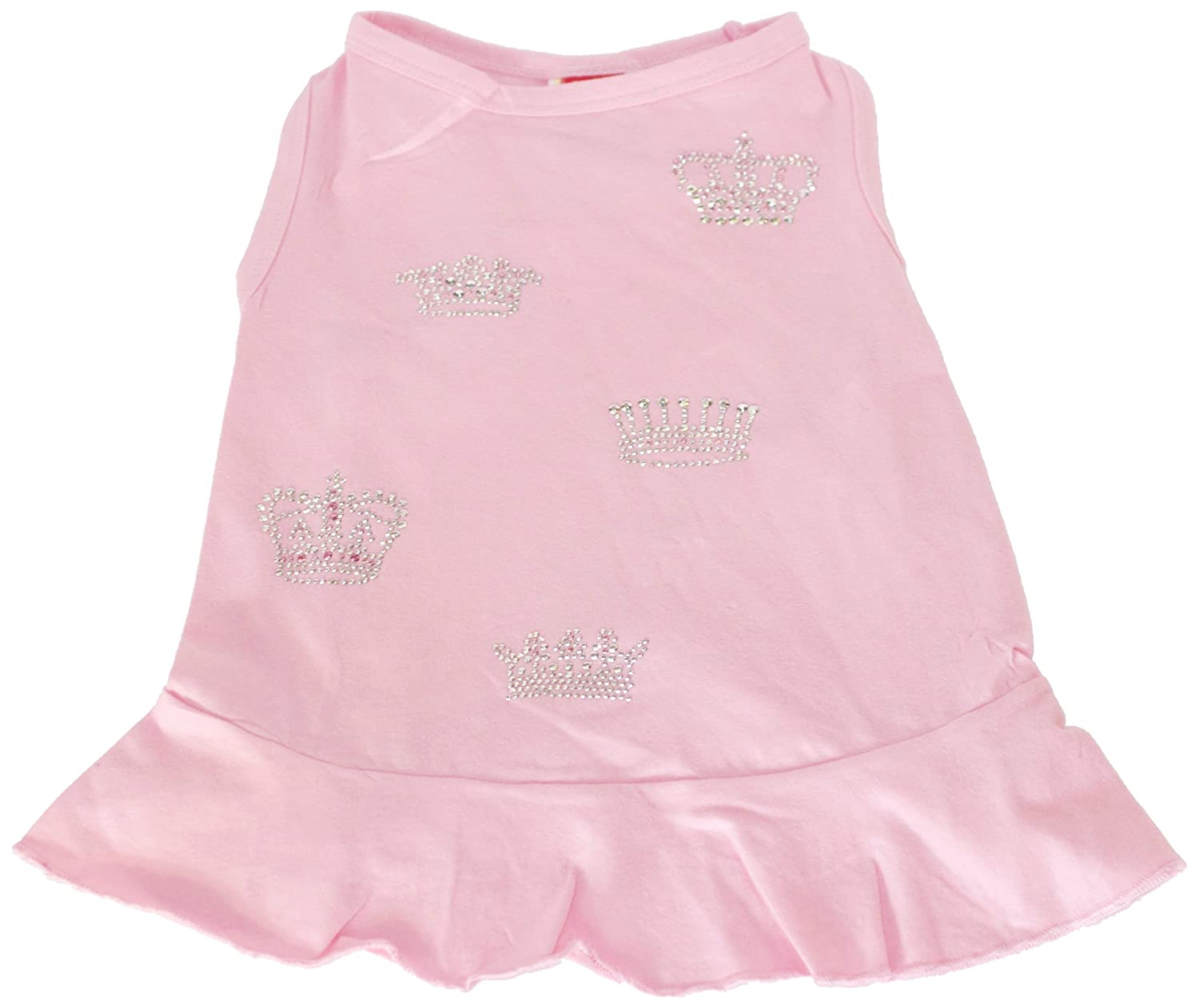The Dog Squad 5-Crown Pet Dress, Medium, Pink