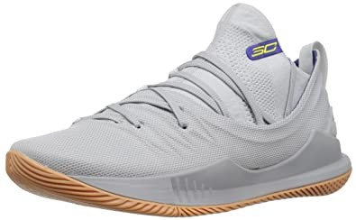 Under Armour Mens Curry 5 Basketball Shoe, Elemental (105)Overcast Gray,