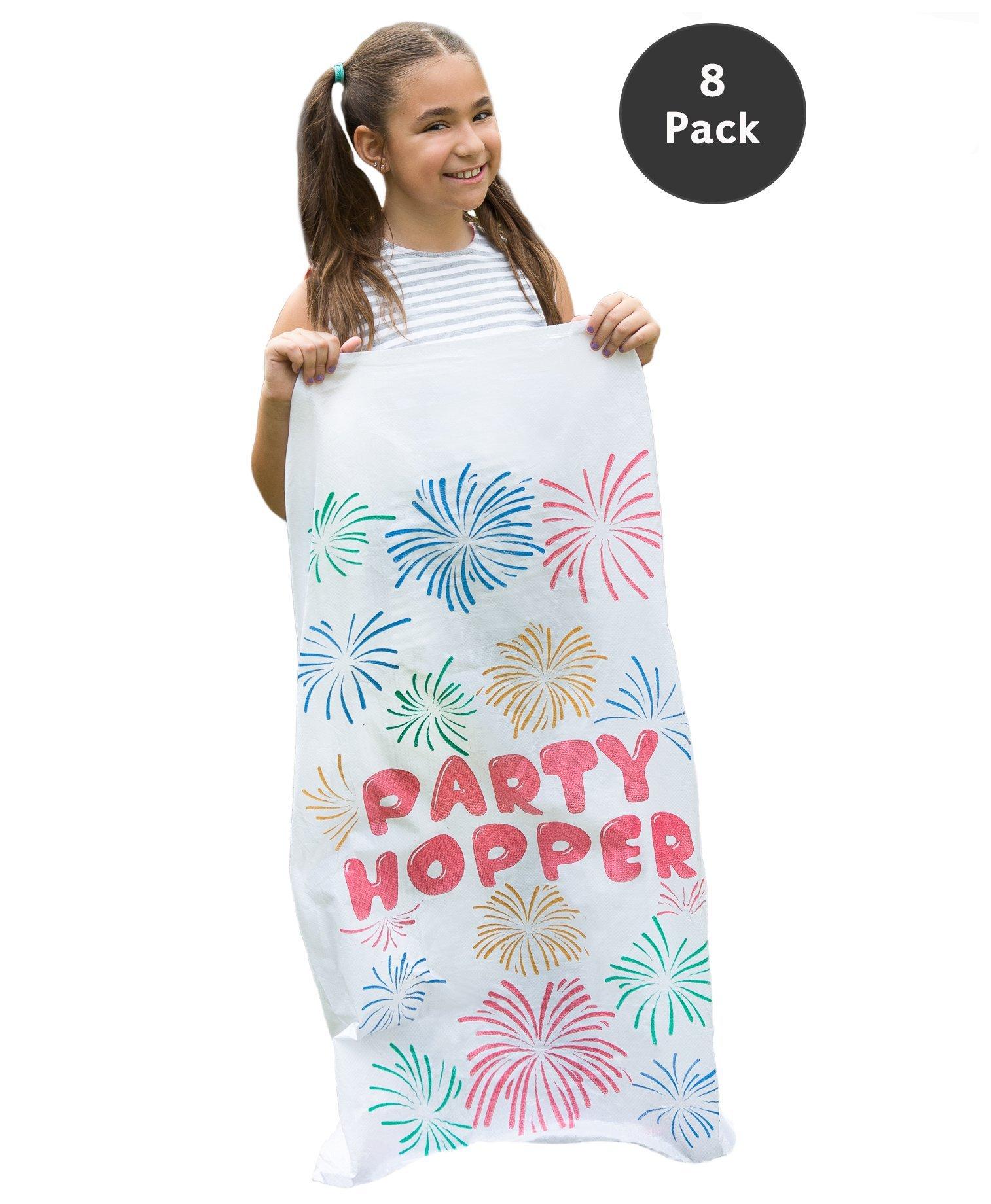 8 PACK - Durable Potato Sack Race Bags, No Weird Burlap Odors, Birthday Party Games