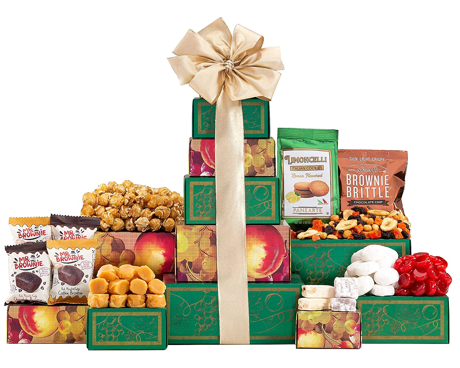 Sympathy Gift Tower For Times Of Support A Way to Say Sorry For Your Loss and Sweeten The Day Chocolate Cookies Caramels by Wine Country Gift Baskets