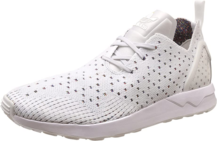 6cd8735f55d94 Mens Originals Zx Flux Adv Asymmetrical Primeknit Trainers in Crystal WHI