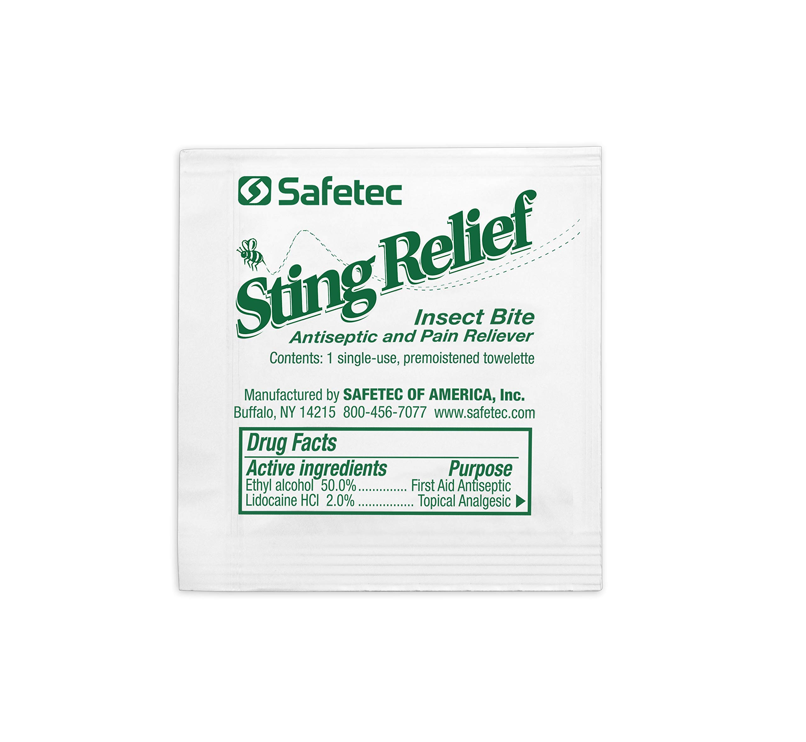 Safetec Sting & Insect Bite Relief Wipes (Bulk) (3000 Wipes/Case) by Safetec