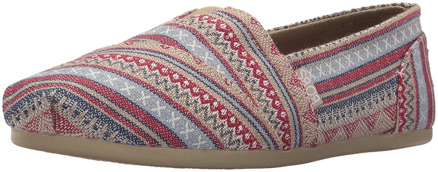 Skechers BOBS from Women's Plush Fashion Slip-On Flat B01HFTVMGE 5 B(M) US|Aztec Tan