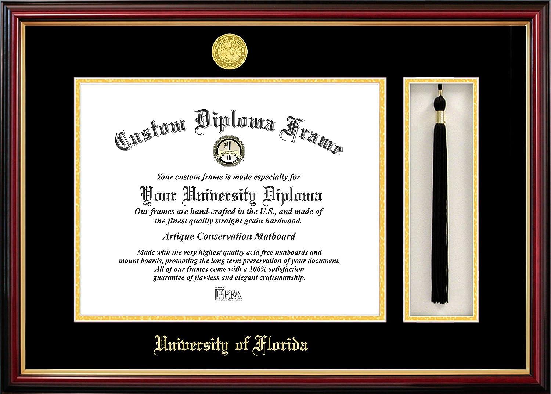 "Campus Images FL994PMHGT University of Florida, Tassel Box and Diploma Frame, 11.5"" x 16"""