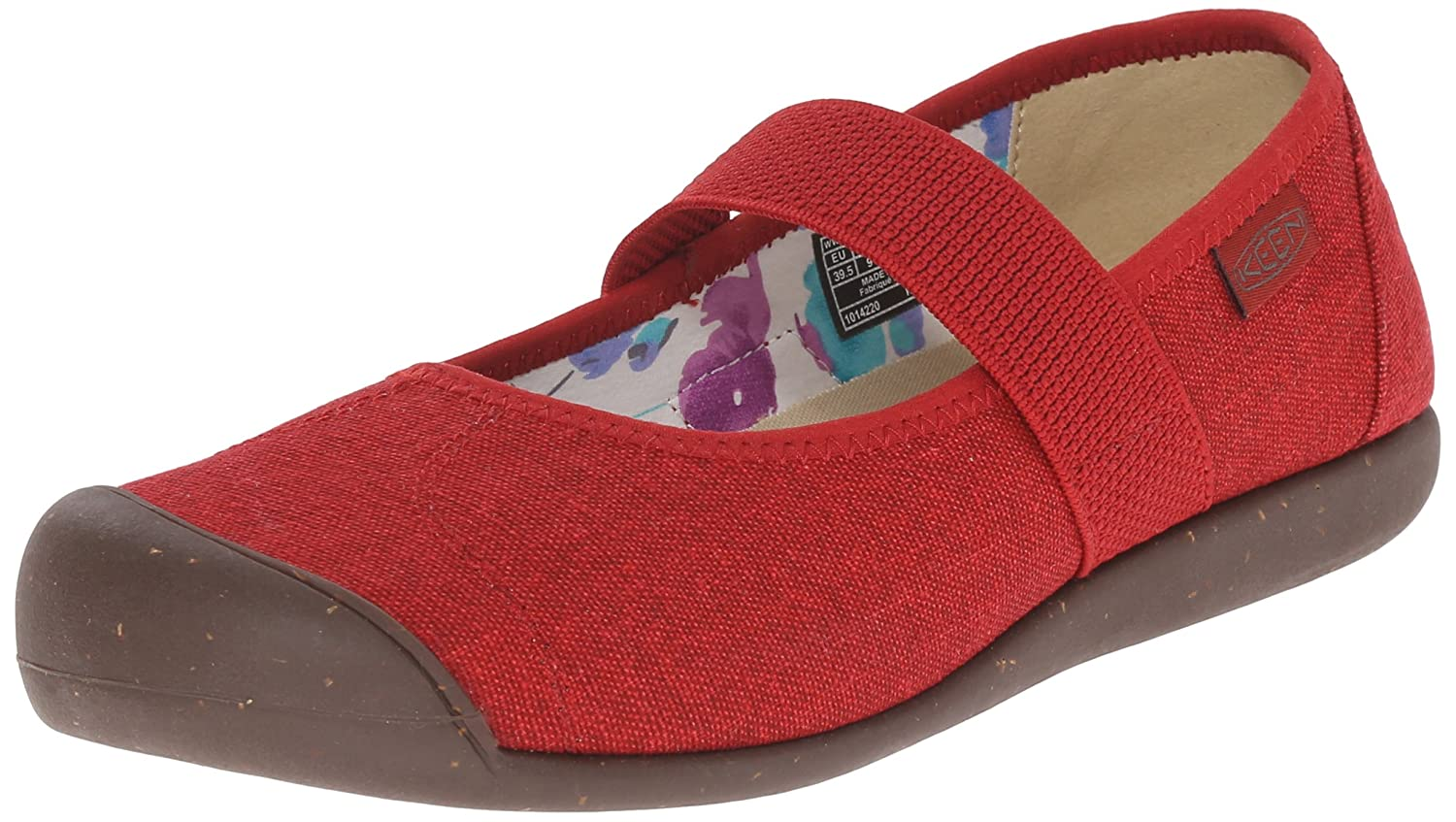 KEEN Women's Sienna MJ Canvas Shoe B00ZFM0EU4 6 B(M) US|Red Dahlia