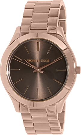 f46c08be8686 Image Unavailable. Image not available for. Color  Michael Kors Women s  Slim  Runway  Quartz Stainless Steel Watch